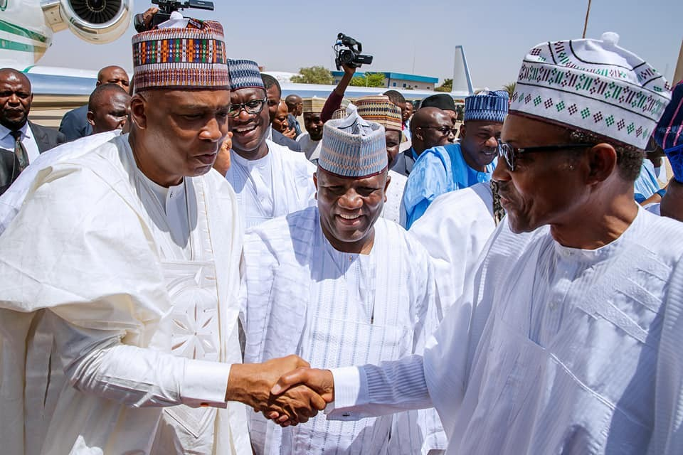 Photos: President?Buhari, Tinubu, Saraki attend wedding of Ganduje?s daughter in Kano State