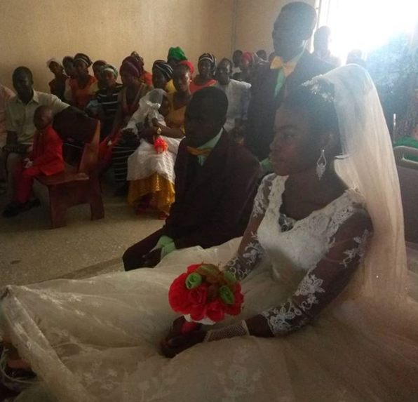 Nigerian bride marries in hospital with fractured legs one day after surviving accident