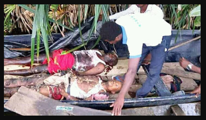 Five pipeline vandals killed in Bayelsa during an explosion in Bayelsa State (Photos)