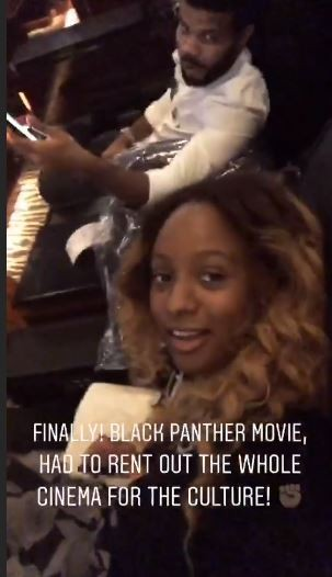 DJ Cuppy rents an entire cinema to watch