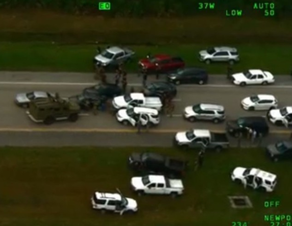 Watch how police prevented a $4m bank heist in an epic highway chase (Video)