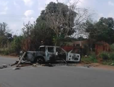 Photos: Scores feared dead as Youths clash with SARS officers in Anambra