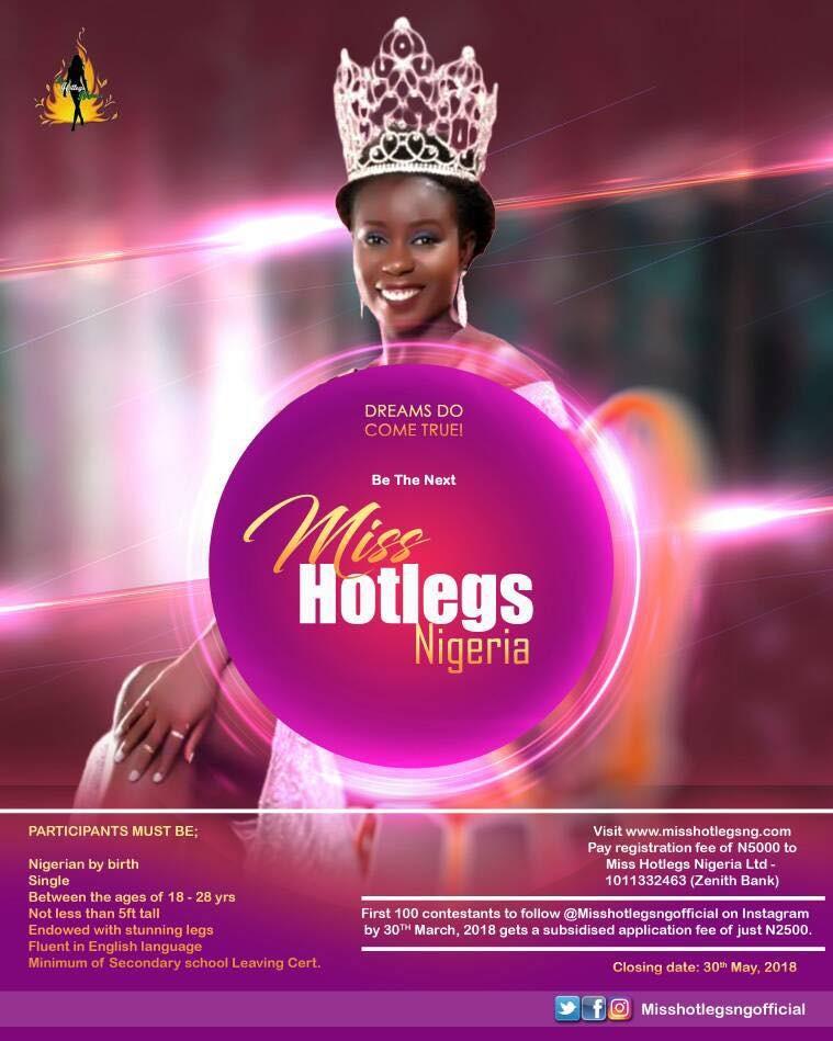 Miss Hotlegs Nigeria calls for contestants