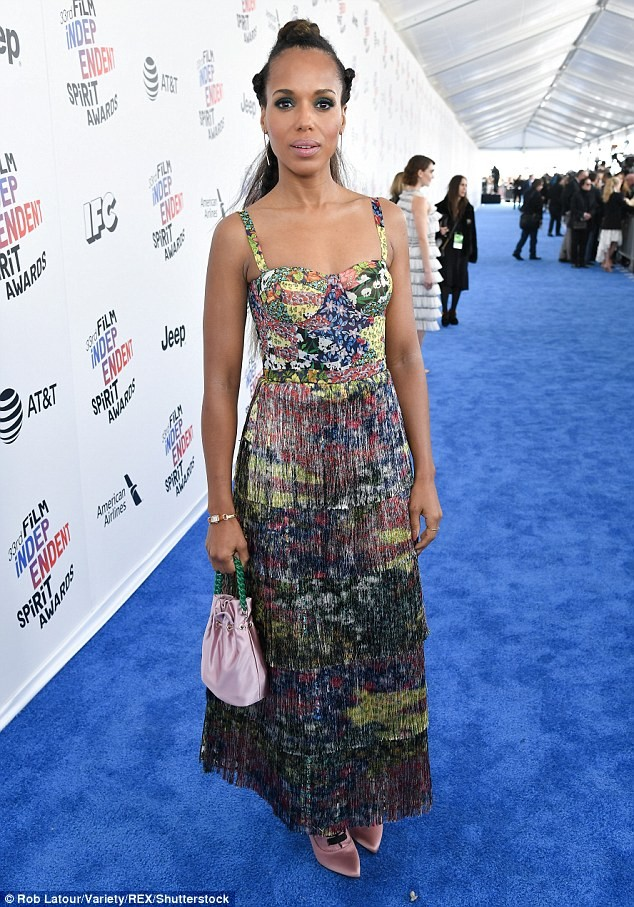 Photos: Kerry Washington makes rare appearance with her husband Nnamdi Asomugha at the Independent Spirit Awards