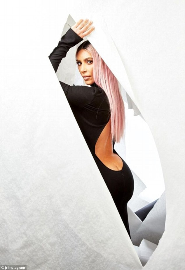 Kim Kardashian flaunts