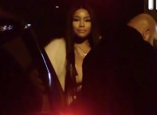 Nicki Minaj makes a rare public appearance at Oscar