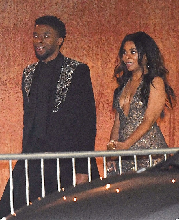 Chadwick ?Black Panther? Boseman spotted leaving Oscar