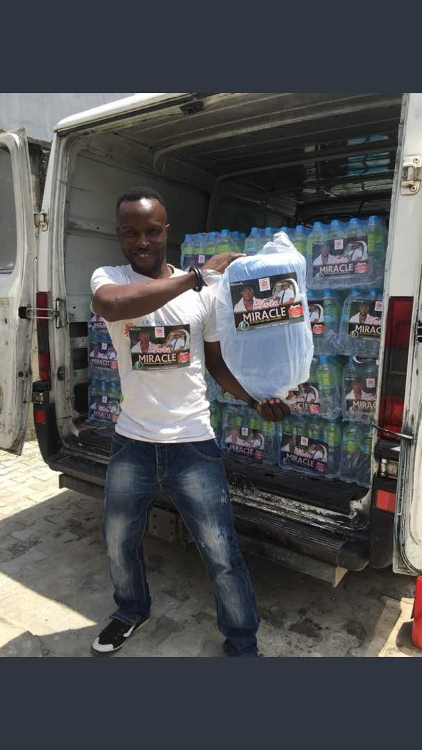 Lol...Check out these packs of bottled water carrying the face of BBN housemate Miracle (Photos)