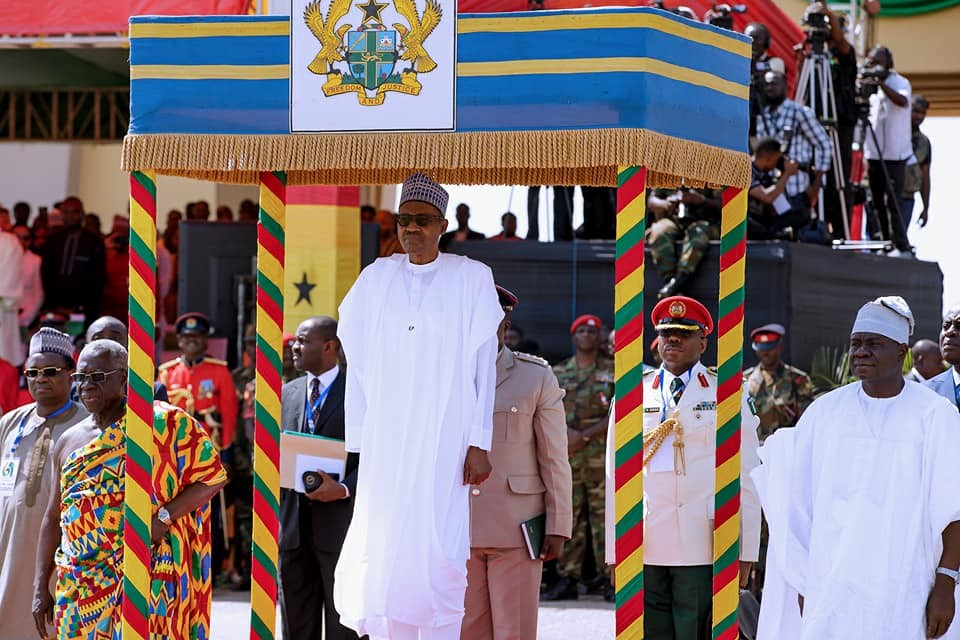 Photos: President Buhari attends Ghana