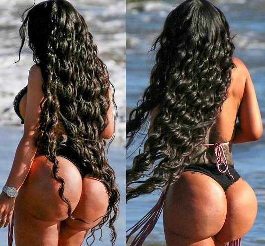 Photos: Blac Chyna flaunts her massive curve in see-through thong bikini for Malibu photoshoot