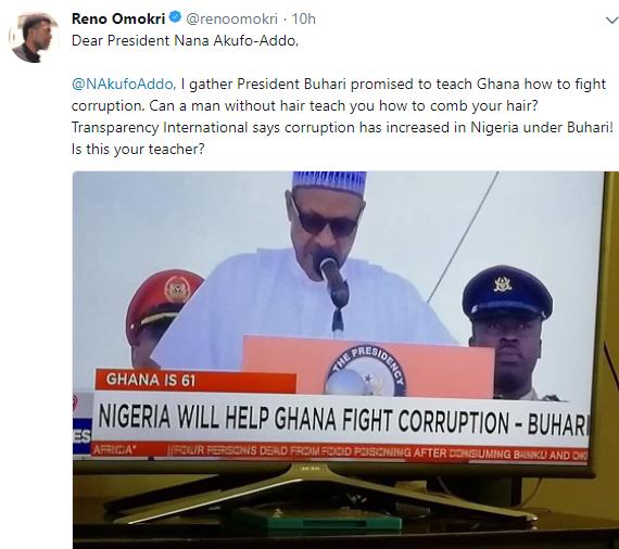 Reno Omokri reacts to President Buhari