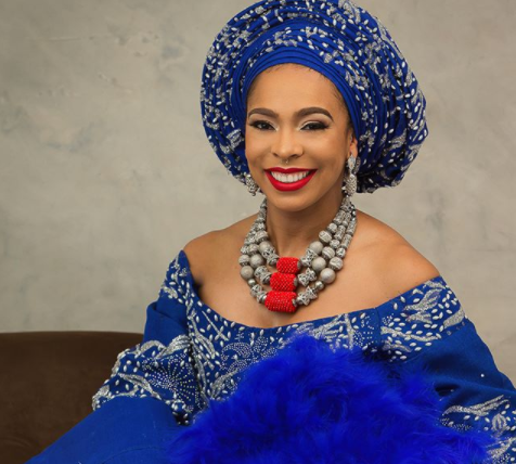 Tboss is all shades of lovely in Aso-oke?(photos)