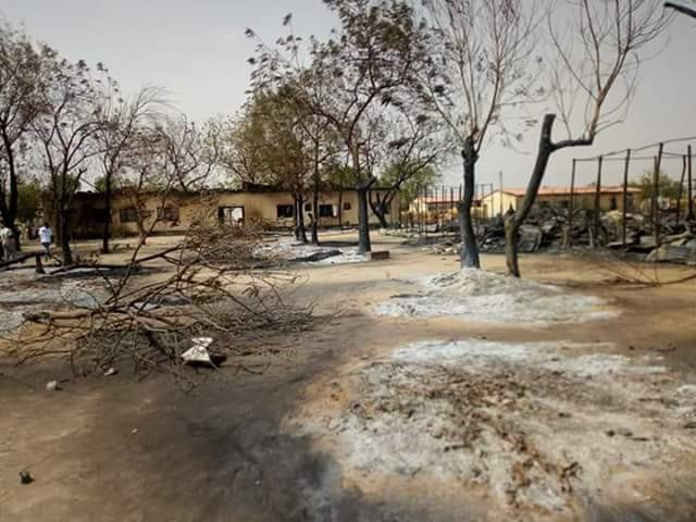 Photos: Fire razes IDP camp in Borno