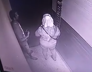 Video: Police seeks identity of man caught on camera masturbating in front of a 53-year-old woman in an elevator