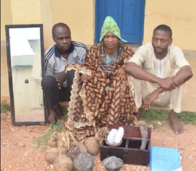 Charms recovered from the shrine of three ritualists/fraudsters arrested in Osun State (Photos)