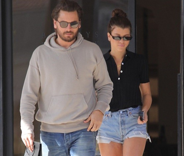 Sofia Richie and Scott Disick step out after her dad Lionel Richie