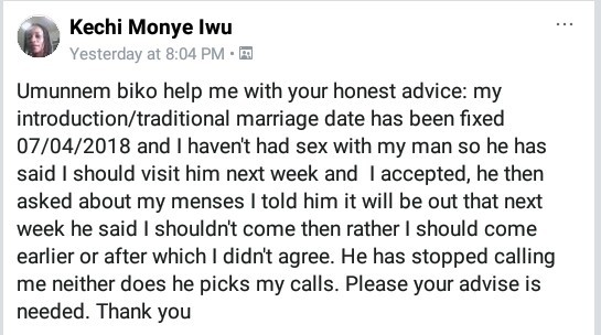 Nigerian lady set to wed next month says her man isn