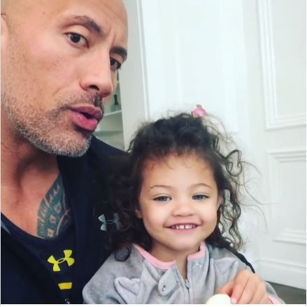 Watch adorable video of The Rock and his cute daughter delivering heartwarming message on International Women