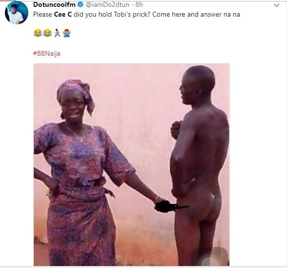 Twitter Nigeria reacts to video of Tobi accusing Cee-C of hand grabbing his d*ck under the duvet (Screenshots)