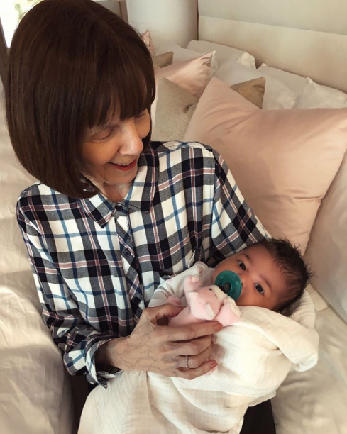 Kylie Jenner shares photos of her grandmum carrying her daughter, Stormi