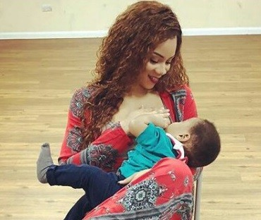 Former beauty queen, Fiona Amuzie-Irede posts breastfeeding photo