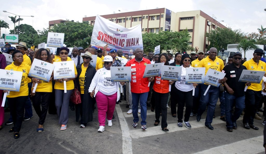 Gov. Ambode leads walk against sexual and gender based violence in Alausa Ikeja