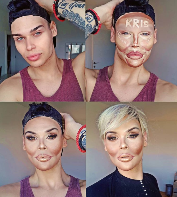 Makeup artist transforms herself into Kris Jenner and Kim K and it was so amazing that Kim noticed (photos)