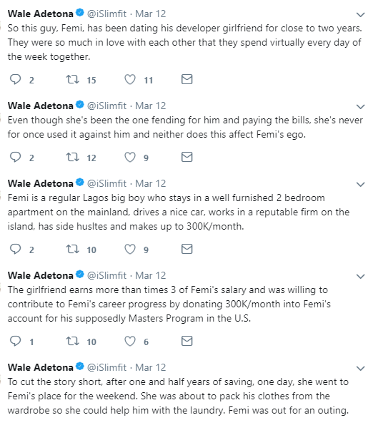 Man deceives his girlfriend of almost 2 years into saving up money for him to pursue his Masters but used it to secure a Canadian visa for himself and his wife