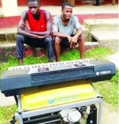 Police arrest thieves after stealing church piano and?generator in Calabar