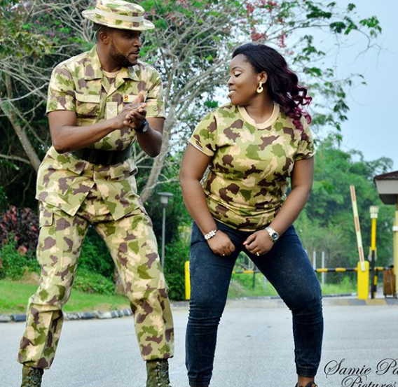 Check out this military couple