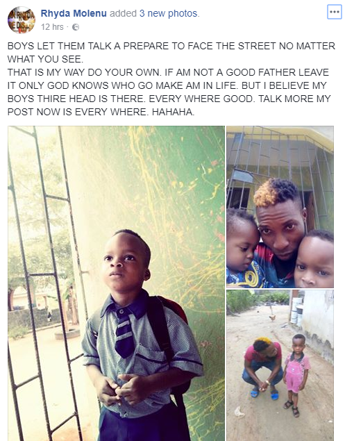 Nigerian father who gave his toddler sons shisha to smoke defends his action