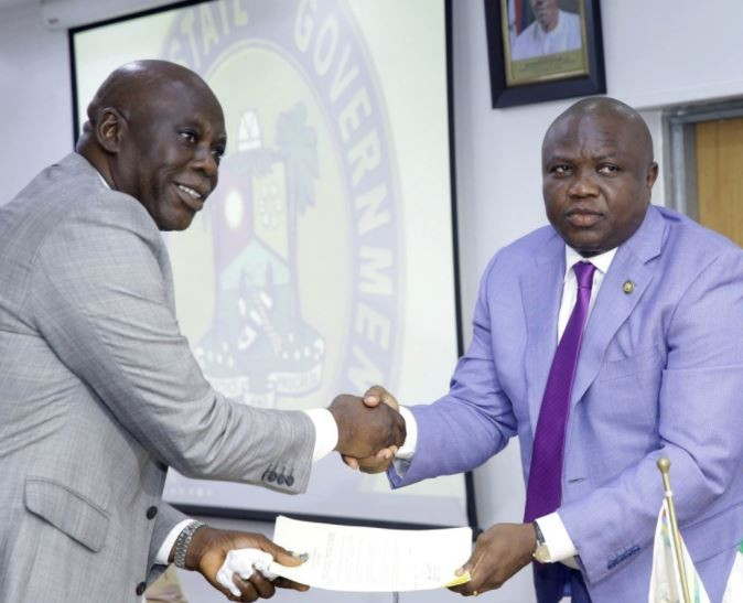 Governor Ambode swears-in two new Permanent Secretaries (Photos)