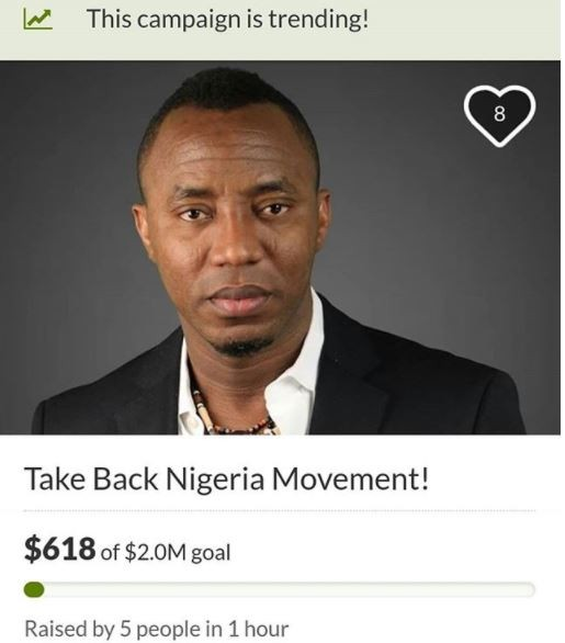 Sahara Reporters publisher, calls out Bukola Saraki after GoFundMe suspended him from raising campaign funds on its site