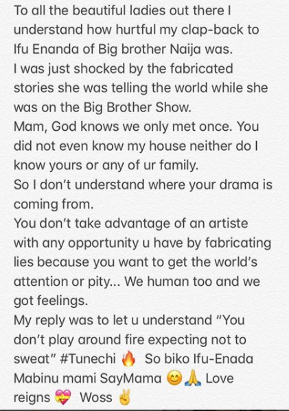 """I  was just shocked by the fabricated stories, God knows we only met once"" CDQ says as he apologizes to ladies for the harsh clap-back on Ifu Ennada"
