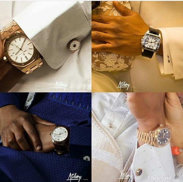 Photos: Check out all the wristwatches billionaire grandson, Usman Abdulrazaq wore for his wedding that got people talking