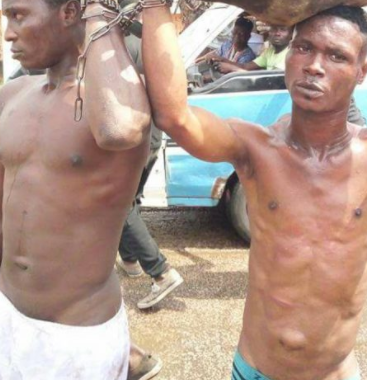 Look what a man did to thieves he caught roasting his goat in Lagos