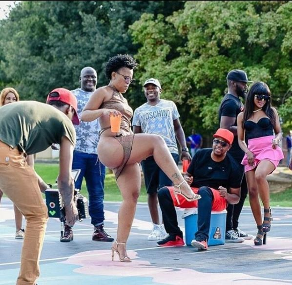 Controversial SA dancer shares more pantless photos from the set of her music video - AkPraise