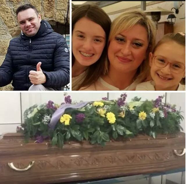 Two young girls shot dead by their father, laid to rest (photos)