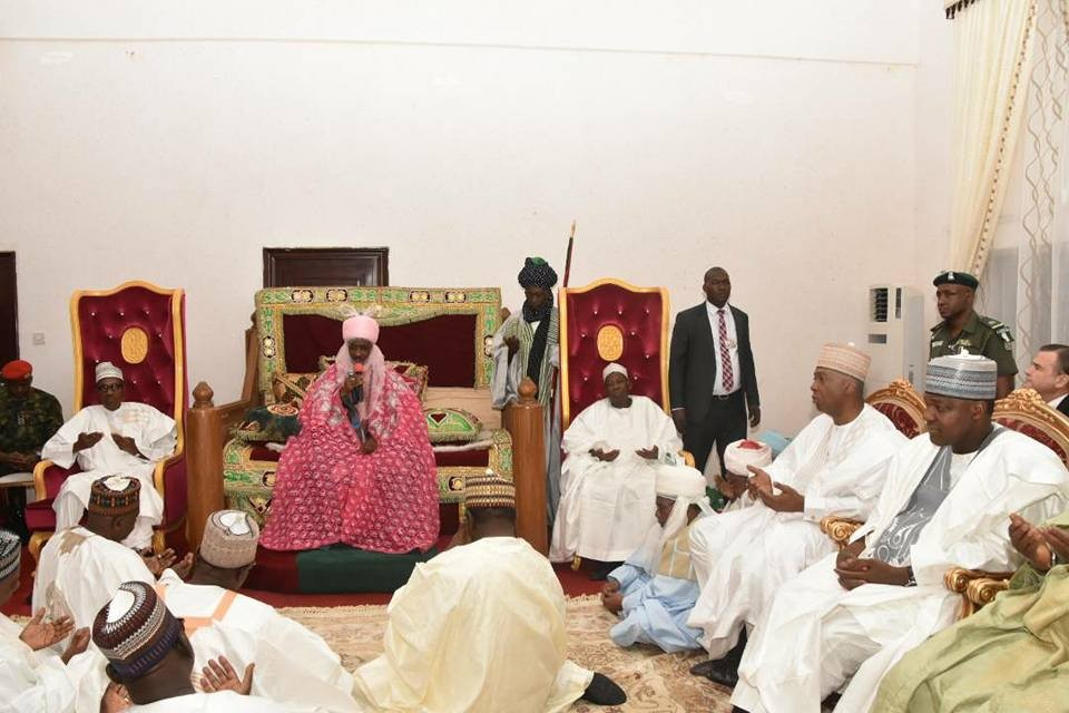 Photos: President Buhari, state governors, Senate President Bukola Saraki, Speaker Yakubu Dogara, others in Kano for Aliko Dangote