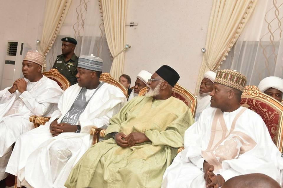 Photos: President Buhari, state governors, Senate President Bukola Saraki, Speaker Yakubu Dogara, others in Kano for Aliko Dangote
