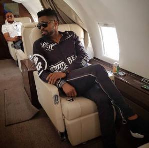 """The grass is always greener on social media"" Basketmouth says as he poses inside a private jet"