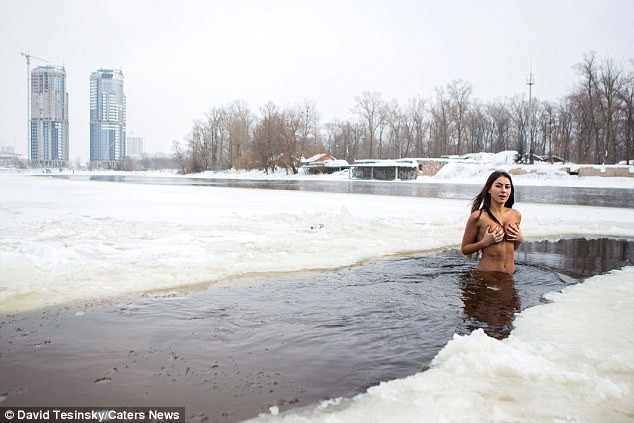 Photos: Meet the woman who jogs and swims naked in freezing temperatures to stay ageless..18+