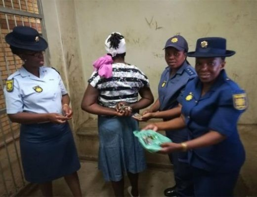 Photos: Mother busted selling drugs to primary school pupils in South Africa