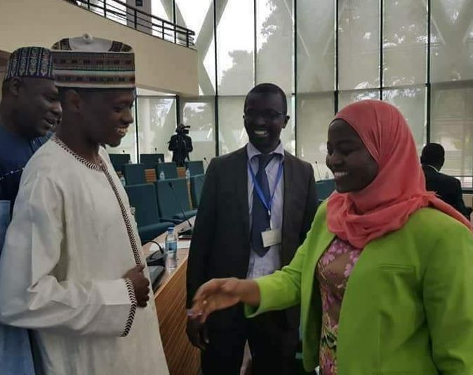 Nigerian lawmaker, Hon. Sabiu, breaks the Internet after refusing a?handshake from a female colleague (Photo)