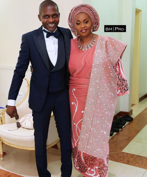 Image result for Billionaire businesswoman, Bola Shagaya, looked stunning at the church wedding of her son,