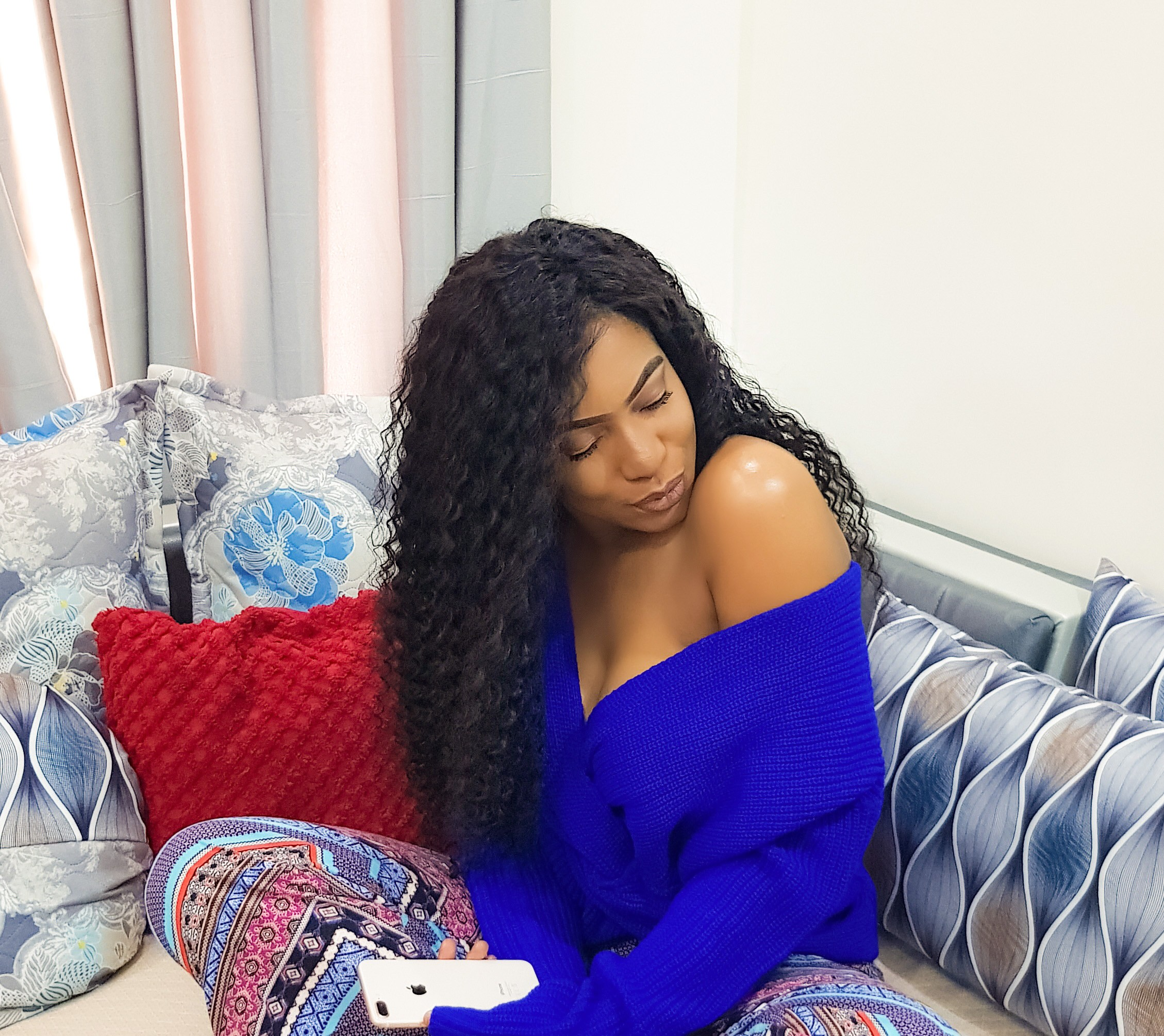 Chika Ike shows off cleavage in new sexy photos