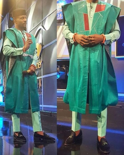 #BBnaija: Ebuka rocks the famous