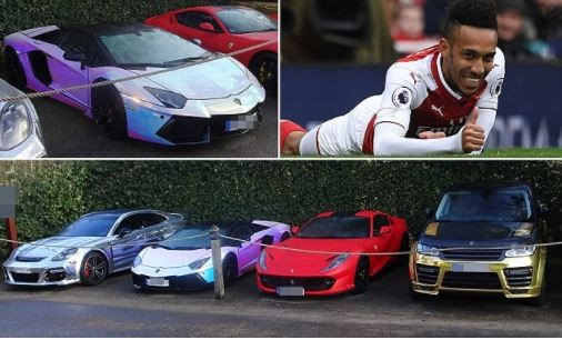 Check out the flashy supercars Arsenal star Pierre-Emerick Aubameyang just imported from Germany (Photos)