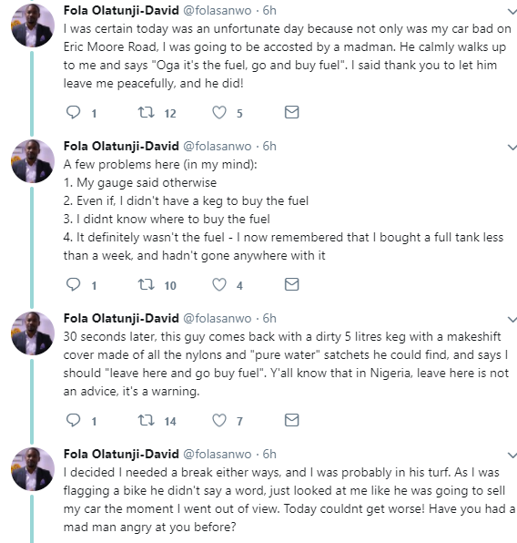 Twitter stories: Man narrates how God used a mentally challenged man  to help him