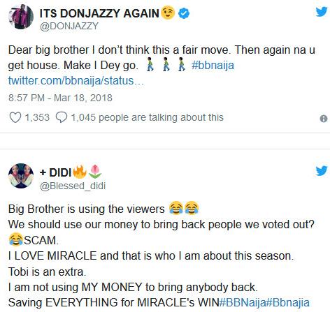#BBNaija: Nigerians reacts to Big Brother